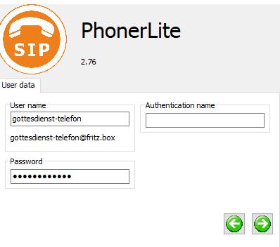 PhonerLite Schritt 2
